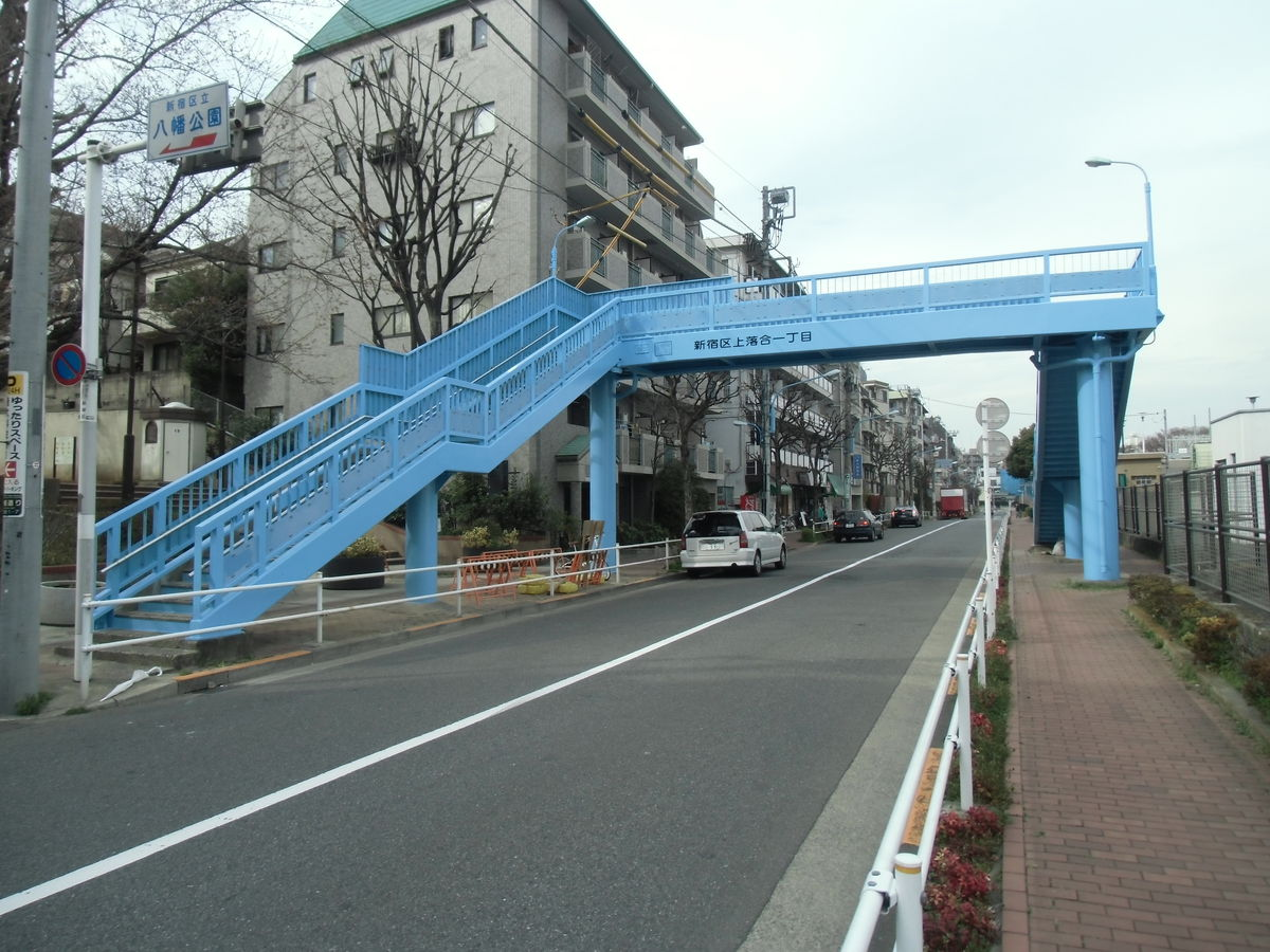 上落合八幡歩道橋りょう塗装工事