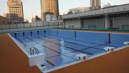 新宿区立西新宿中学校水泳プール塗装工事