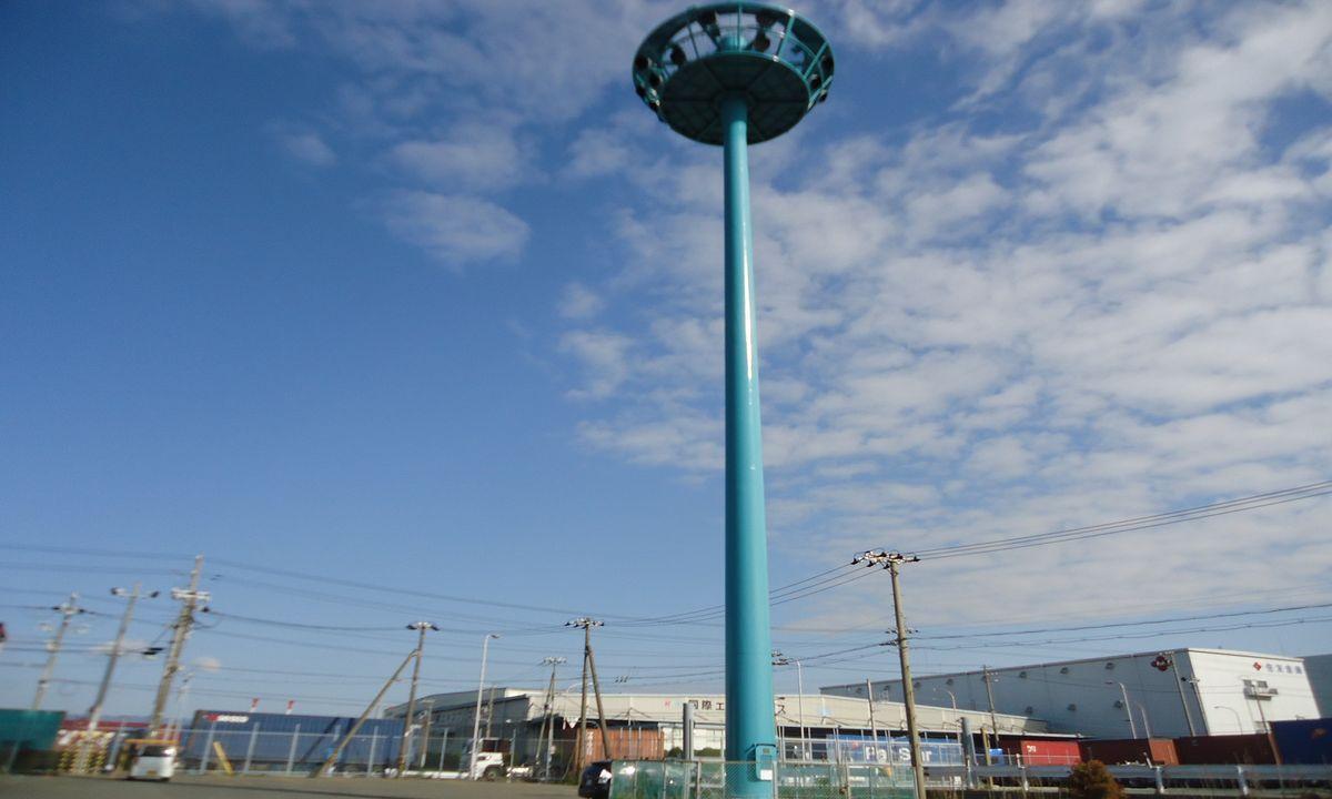 南港R地区荷さばき地照明塔塗装工事