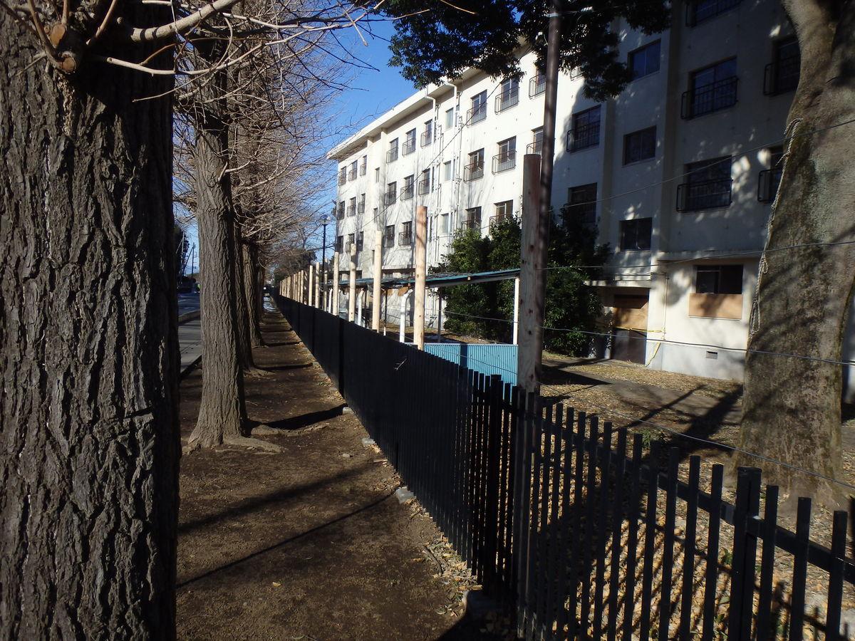 宿舎侵入防止柵設置工事