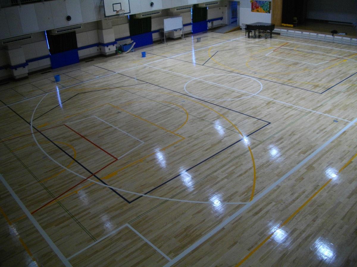 都立墨東特別支援学校(東28)体育館床塗装改修工事