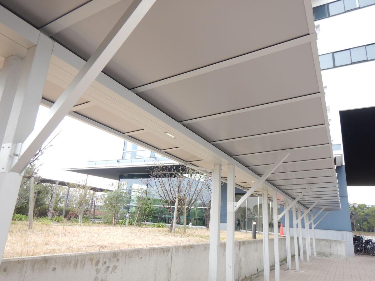 (台風15号被害)大田清掃工場自転車置場屋根補修工事